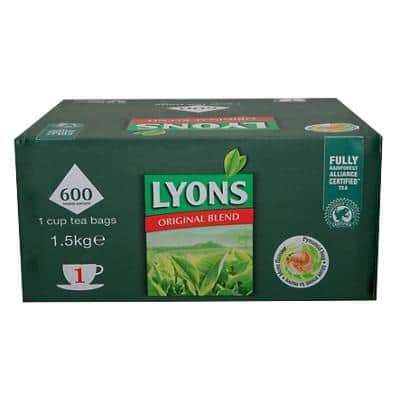 Lyons Tea Bags 1500g Pack of 600