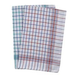 Caterers check tea towels assorted 10-pack