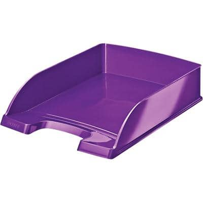 Leitz WOW Letter Tray Purple A4