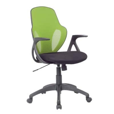 Realspace Office Chair Austin Basic Tilt Lime, Black
