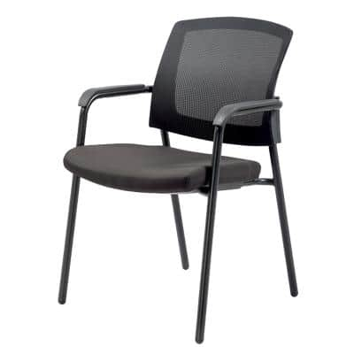Realspace Stacking Chair Sutton Black