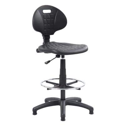 Realspace Draughtsman Chair Permanent Contact Black