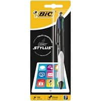 BIC 4 Colours Stylus Retractable Ballpoint Pen Medium 0.4 mm