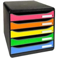 Exacompta Drawer Unit 309798D Polystyrene Black, Harlequin 27.8 x 34.7 x 27.1 cm