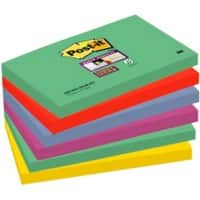 Post-it Super Sticky Notes 76 x 127 mm Assorted 6 Pieces of 90 Sheets