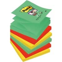 Post-it Sticky Z-Notes 76 x 76 mm Assorted 6 Pieces of 90 Sheets