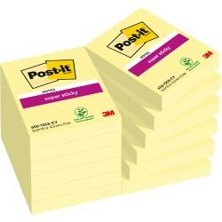 Post-it Super Sticky Notes Yellow 48 x 76 mm 70gsm 12 pieces of 90 sheets