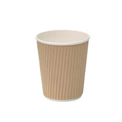 Disposable Cups Paper 280ml Brown 25 Pieces