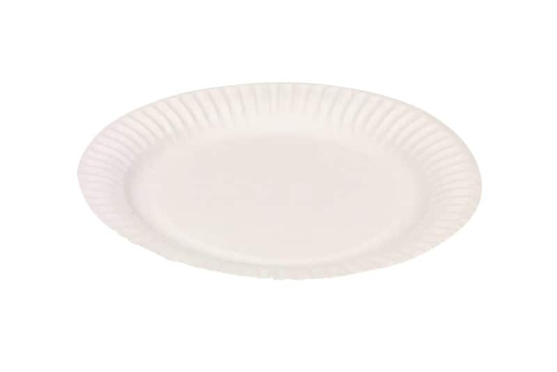 Make mass catering for events easier and more hygienic with these disposable 22cm white paper plates  sc 1 st  Viking Direct & Paper plates 22cm white u2013 pack of 100 | Viking Direct IE
