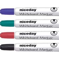 Niceday WBM2.5 Whiteboard Marker Medium Bullet Assorted 4 Pieces