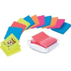 Post-it Z-Note Dispenser 76 x 76 mm White, Clear 12 Pieces of 90 Sheets