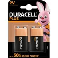Duracell 9V Alkaline Batteries Plus Power MN1604 6LR61 9V Pack of 2
