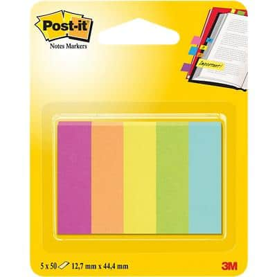 Post-it Index Flags 670-5CA Assorted Not perforated 12,7 x 44,4 mm