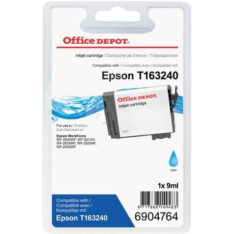 Office Depot Compatible Epson 16XL Ink Cartridge 6904764 Cyan