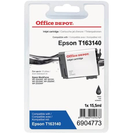 Office Depot Compatible Epson 16XL Ink Cartridge t163140 Black