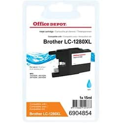 Office Depot Compatible Brother LC1280XLC Ink Cartridge Cyan