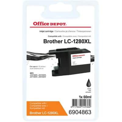Office Depot Compatible Brother LC1280XLBK Ink Cartridge Black