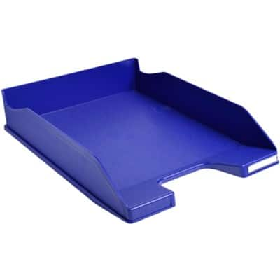 Exacompta Letter Tray Midnight Blue Polystyrene Midnight Blue 6.5 x 25.5 x 34.7 cm