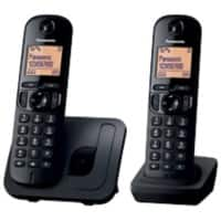 Panasonic KX-TGC210EB digital cordless phone with nuisance call blocker – twin