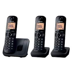 Panasonic KX-TGC210EB digital cordless phone with nuisance call blocker – trio