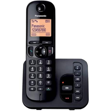 Panasonic KX-TGC220EB digital cordless phone with answering machine – single