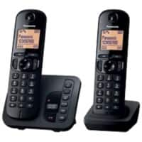 Panasonic KX-TGC220EB digital cordless phone with answering machine – twin