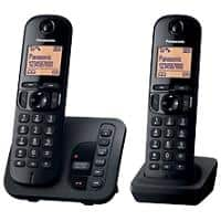 Panasonic Telephone KX-TGC220EB Double Black