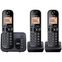 Panasonic Telephone KX-TGC220EB Trio Black
