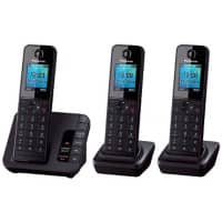 Panasonic Telephone KX-TGH220EB Trio Black 3 Pieces