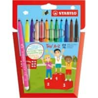Stabilo Fibre Tip colouring pens – assorted colours (pack of 12)