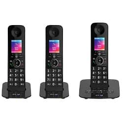 BT Telephone Premium Trio Black