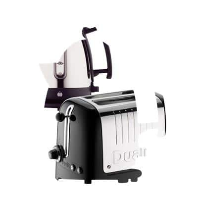 Dualit Cordless Kettle & Toaster Set 1.5L Stainless Steel Black & Silver 2-Slot Toaster