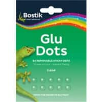 Bostik Glue Dots Removable Transparent 64 Pieces