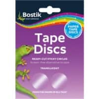 Bostik Tape Discs Ready-Cut Sticky Circles Transparent Pack of 120