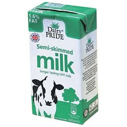 Dairy PRIDE Milk 1.6 % 12 pieces of 500 ml