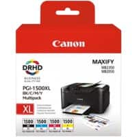 Canon PGI-1500XLBK/C/M/Y Original Ink Cartridge Black & 3 Colours 4 Pieces