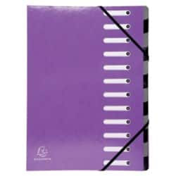 Exacompta Document Wallet 53926E A4 Purple card