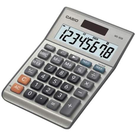 Casio Desktop Calculator MS-80B grey