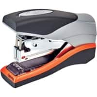 Rexel Optima Stapler Compact 40 Flat Clinch Low Force 40 Sheets Silver, Orange