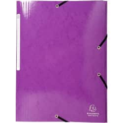 Exacompta 3 Flap Folder Iderama Maxi A4+ Purple Cardboard