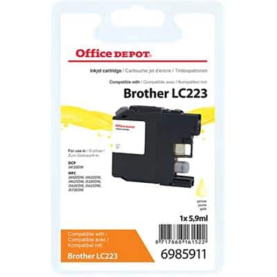 Office Depot Compatible Brother LC223Y Ink Cartridge Yellow