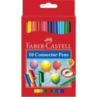 Faber-Castell Felt Tip Pens 155510 3 mm Assorted 10 Pieces
