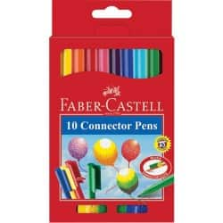 Faber-Castell Connector colouring pens – assorted colours (box of 10)