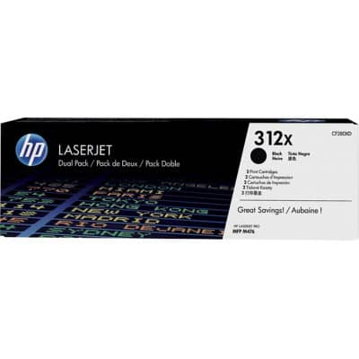 HP 312X Original Toner Cartridge CF380XD Black 2 Pieces