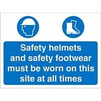 Site Sign Helmets & Shoes Fluted Board 30 x 40 cm