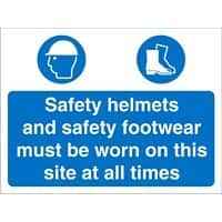 Site Sign Helmets & Shoes PVC 30 x 40 cm