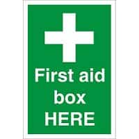 First Aid Sign First Aid Box Fluted Board 30 x 20 cm