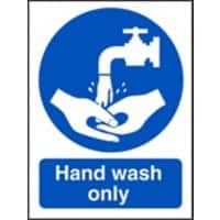 Catering Sign Hand Wash Only Vinyl 30 x 20 cm