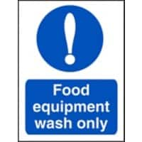 Catering Sign Food Equipment Vinyl 20 x 15 cm