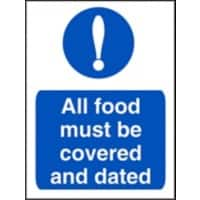 Catering Sign Covered And Dated Vinyl 30 x 20 cm